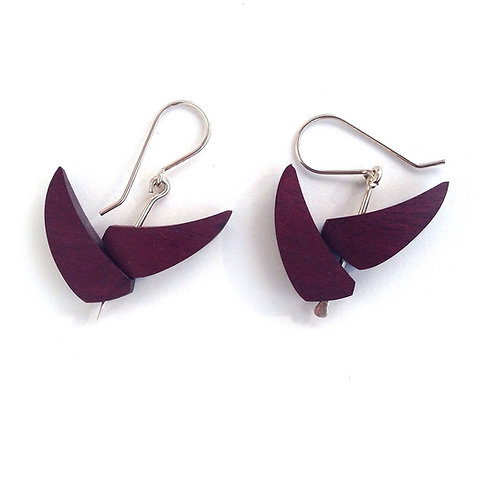 Heliconia - RoseWood Earrings