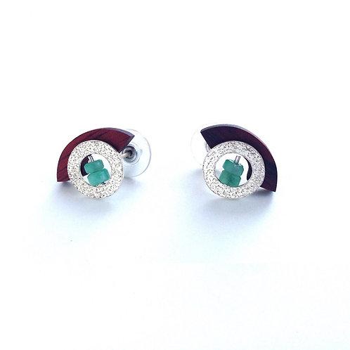 Twins - Emerald Earrings