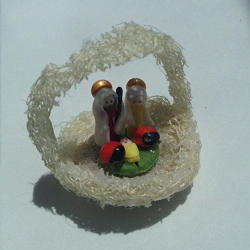 Nativity on Luffa Basket