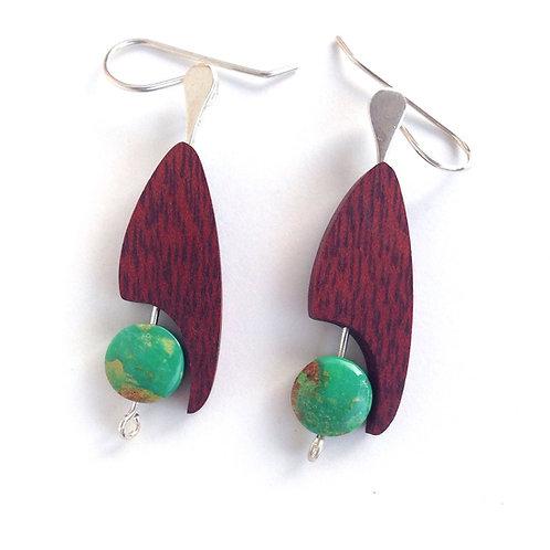 Toucan - Turquoise Earrings