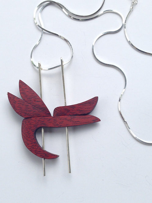 Heliconia - Sande Wood Necklace