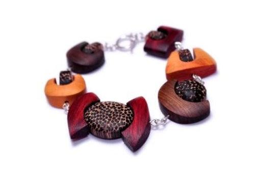 Asymmetric - Wood Bracelet