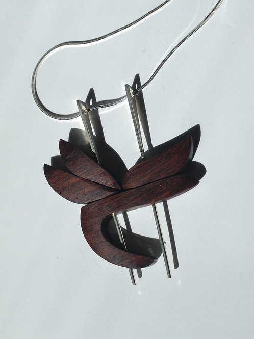 Heliconia - Ebony Wood Necklace