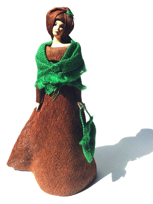 Lady with Burlap Chal