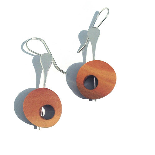 Universo - Carreto Wood Earrings