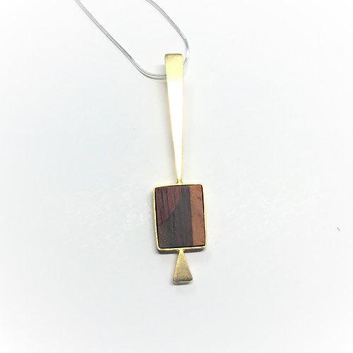 Saturn - 3 wood square Gold