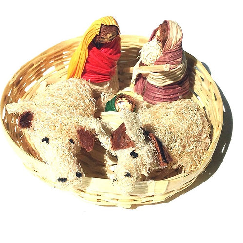 Nativity on Basket