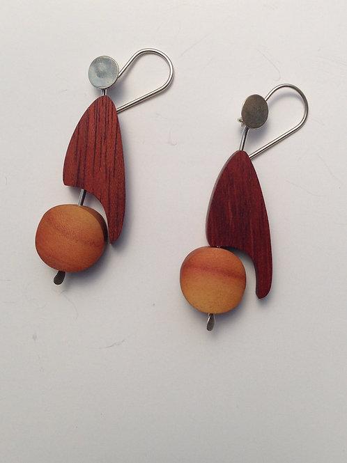 Toucan - Wood Earrings