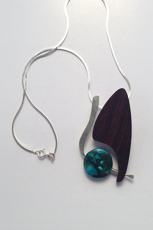 Toucan - Chrysocolla/Malachite Necklace