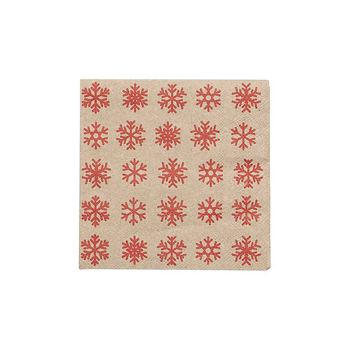 Snowflake Cocktail Napkins