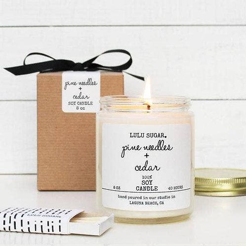 8 oz. Pine & Cedar Soy Candle