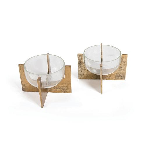 Votive/Bowl with Brass Base