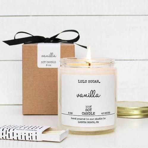 8 oz. Vanilla Soy Candle