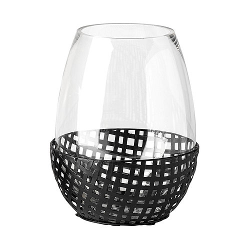 Woven Metal Candle Holder