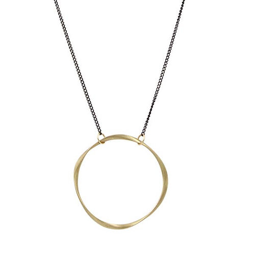 Large Brass Ring Necklace