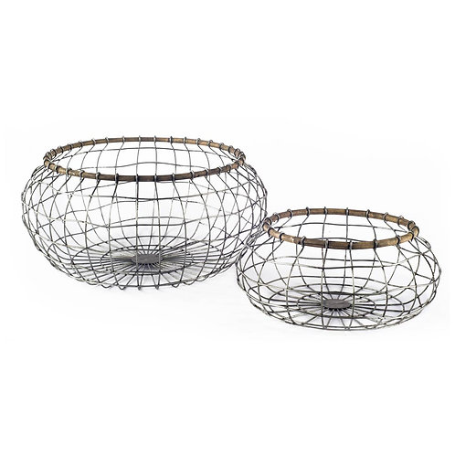 Grey mesh metal bowl