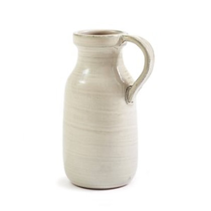 Cream Ceramic Bottle Vase