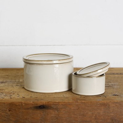 ROUND CERAMIC CANISTERS