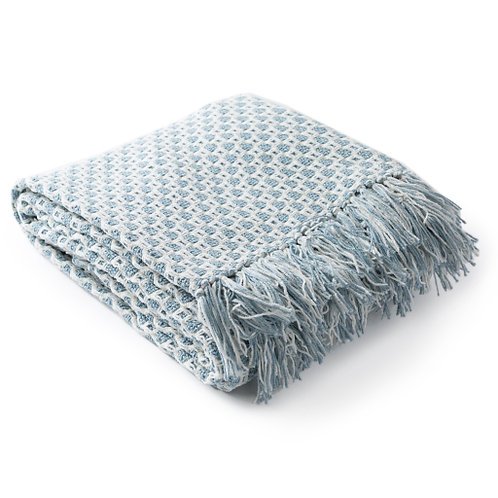 Denim & White Throw