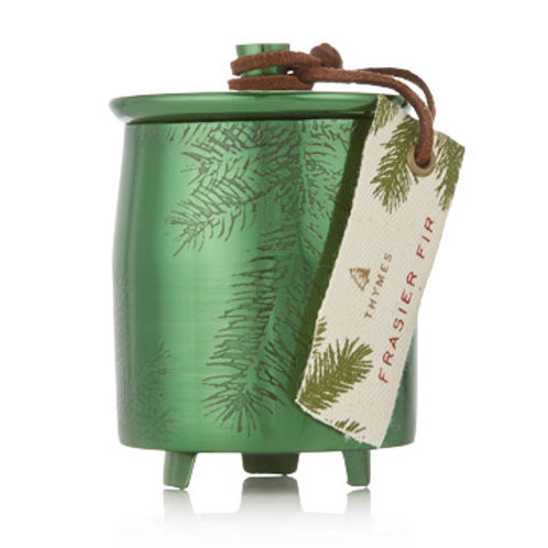 Sm. Green Metal Frasier Fir Candle