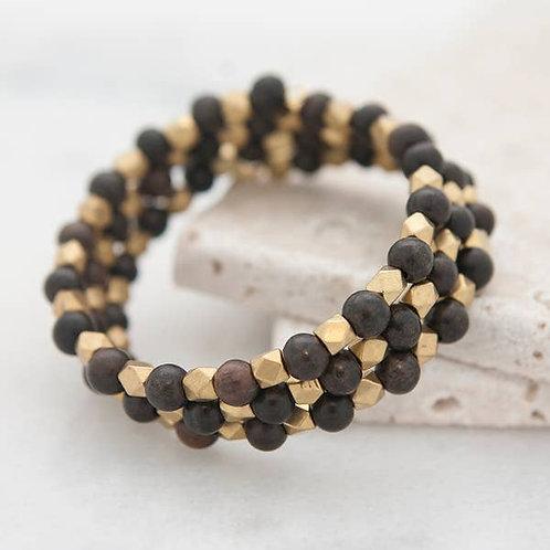 Triple Wrap Bracelet, black