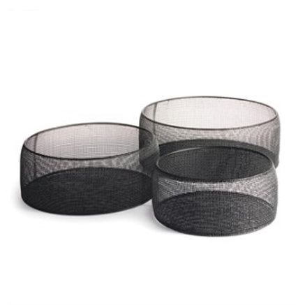 Black Wire Mesh Circular Stacking Box
