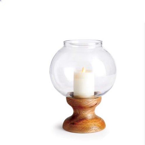 Candle  with Glass Vase