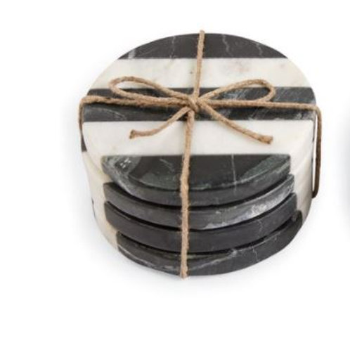 STRIPED MARBLE COASTERS