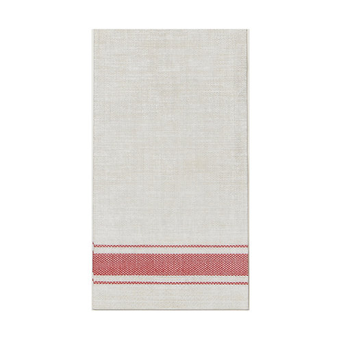 Bistro Red Stripe Guest Napkin