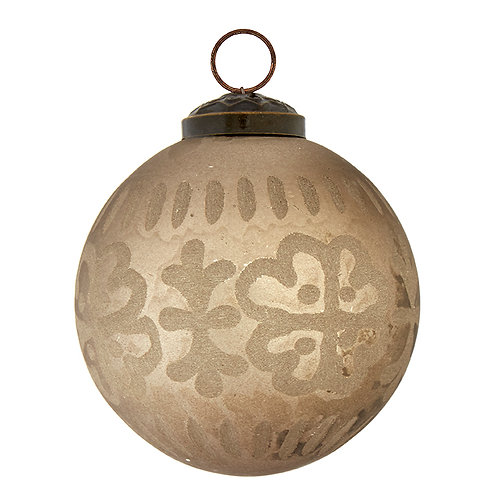 "3""Etched Mercury Ball Ornament"