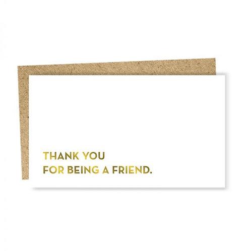 "Enclosure Card ""Thank you friend"""