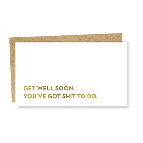"Enclosure Card ""get well"""