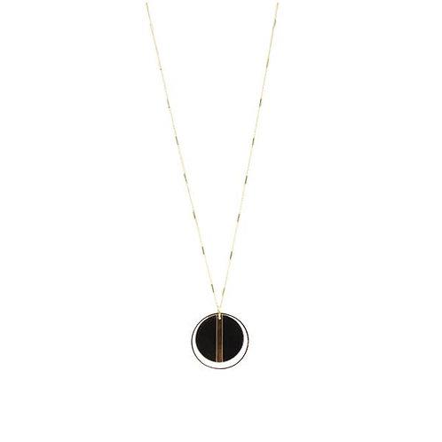 Gold & Black Geometric Necklace