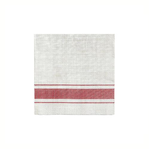 Bistro Red Stripe Cocktail Napkin