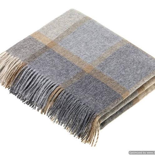 Merino Wool Beige/Grey Throw
