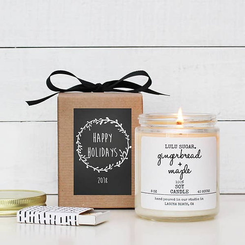 8 oz. Gingerbread & Maple Soy Candle