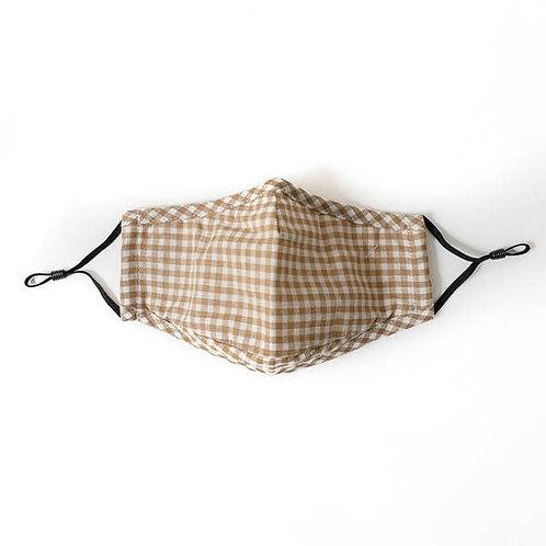 Khaki Checkered Face Mask