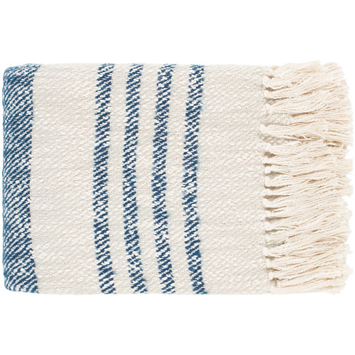 Blue & Cream Woven Throw