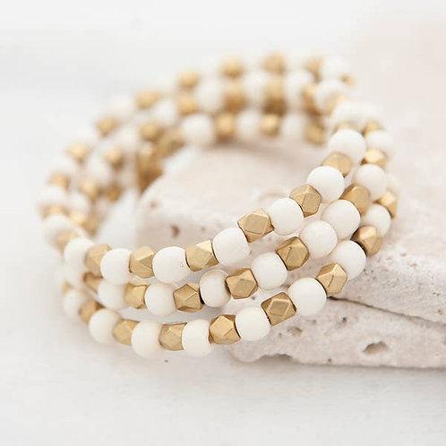 Triple Wrap Bracelet, white