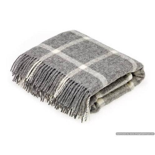 Natural New Wool Grey Throw
