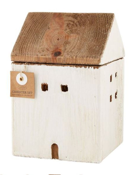 WOOD HOUSE CANISTER #2