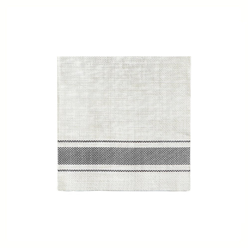 Bistro Grey Stripe Cocktail Napkins