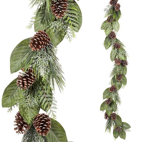 6' Magnolia & Pine Garland