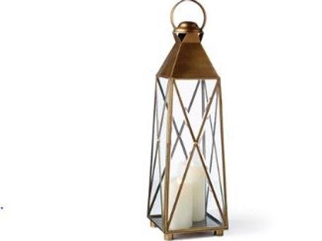 Brass Crossed Lantern