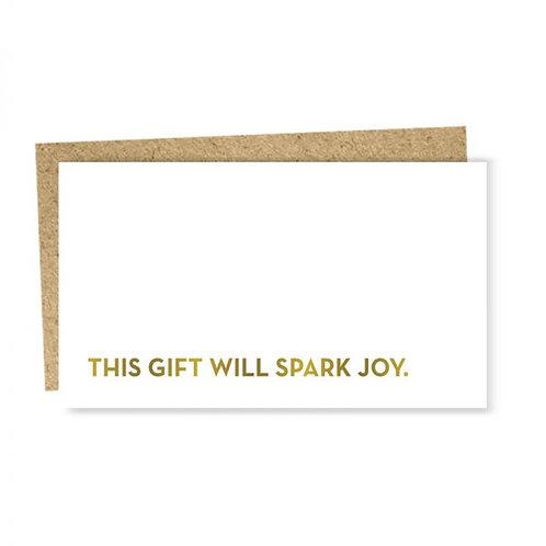 """Enclosure Card """"spark joy"""""""