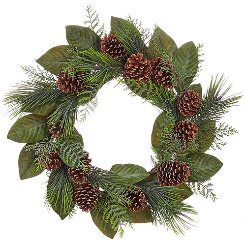 "24"" Magnolia & Pine Wreath"