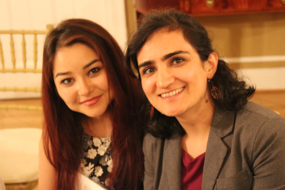Nabila Haidari (Meredith College 2020) with Marzia Nawrozi (Meredith College 2013)