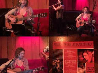 Hajar Hussaini and Eleanor Dubinsky Debut Song at Rockwood Music Hall