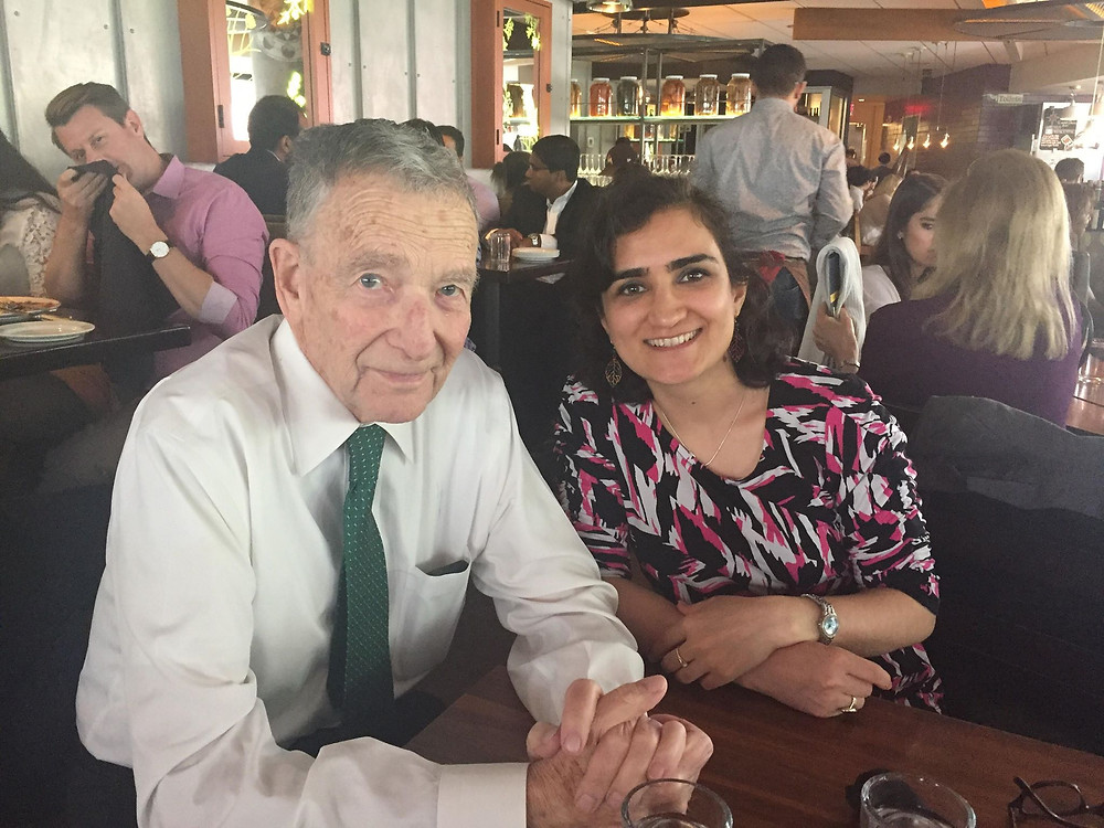 Marzia Nawrozi (Meredith College 2013), graduate of the YES program, with Ted Achilles