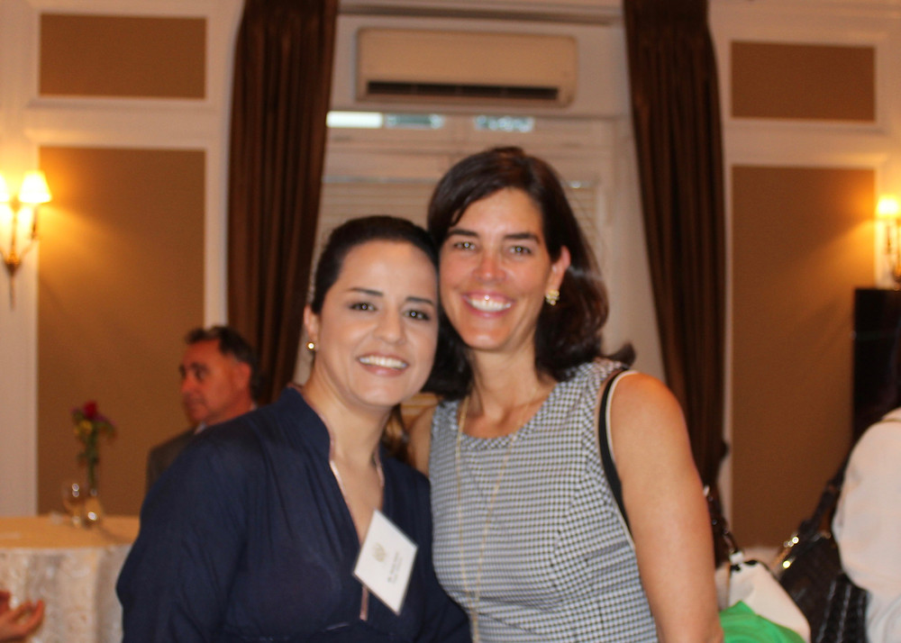 Nadia Sakhi (Roger Williams 2011) and Priscilla Wong, Board of Directors Chair